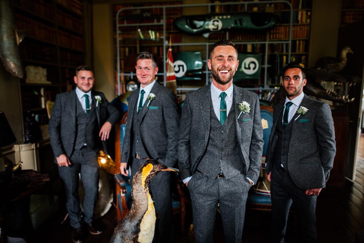 groomsmen group photo before ceremony
