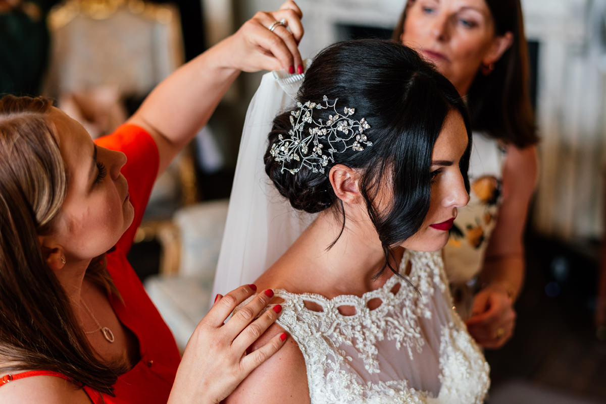 bridal hair floral