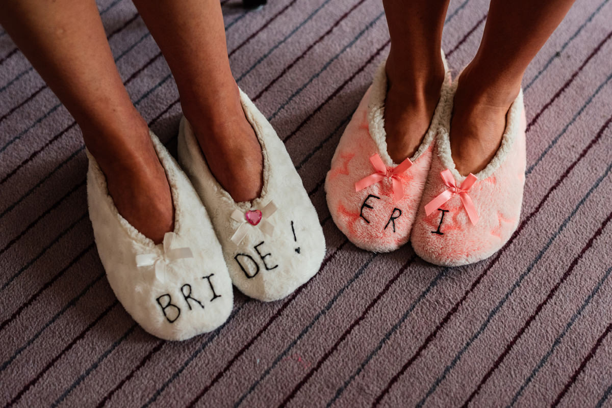 bride's slippers