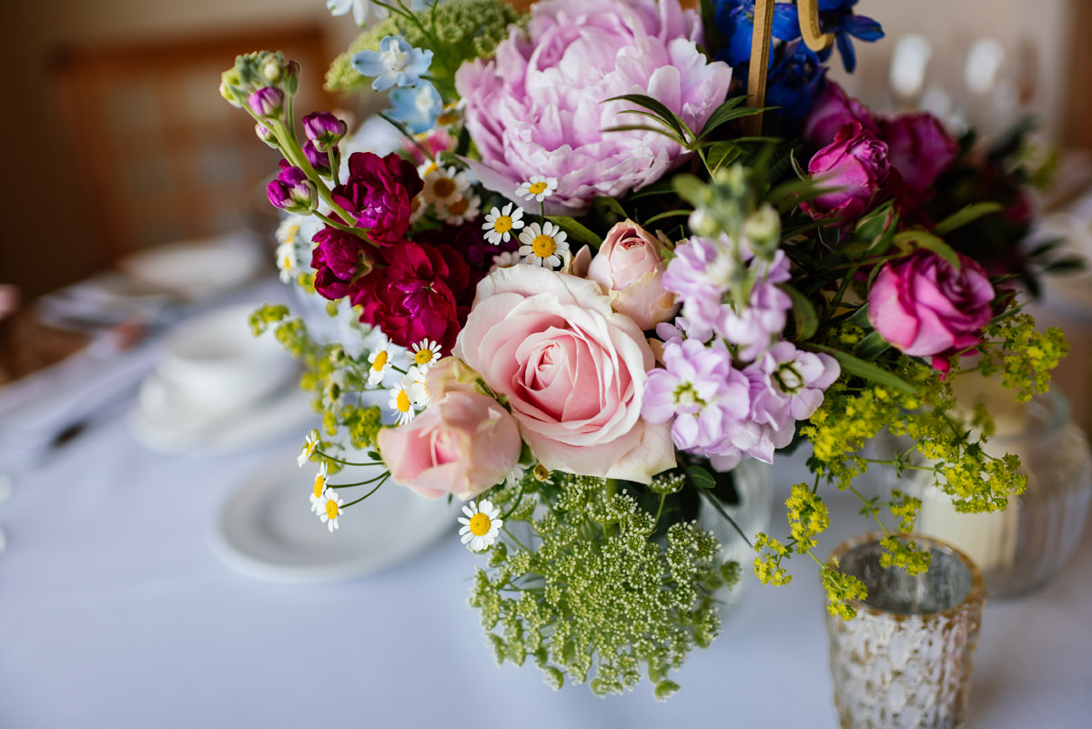 flower details of wedding breakfast