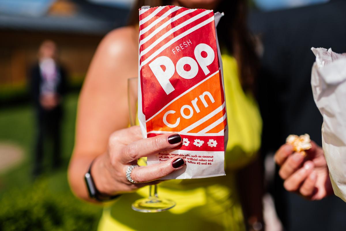 popcorn at wedding
