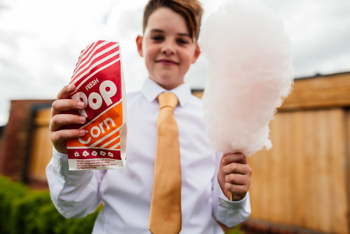 popcorn and candy floss