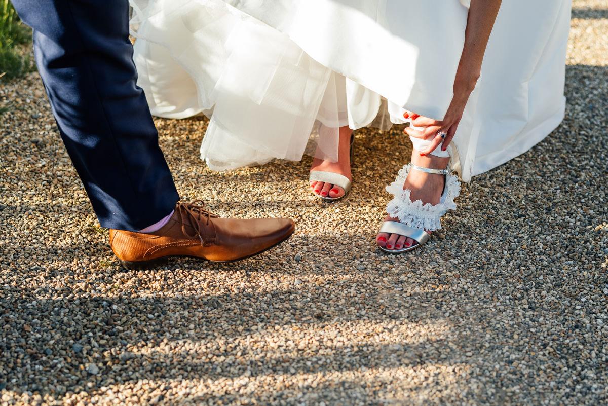 Groom's shoes bridal shoes bridal garter