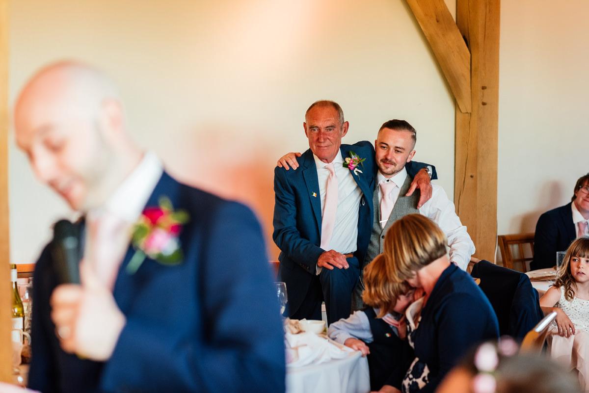 guys listening to the grooms speech