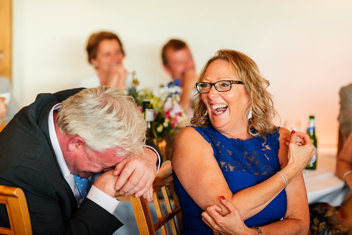 laughing guests during the speeches