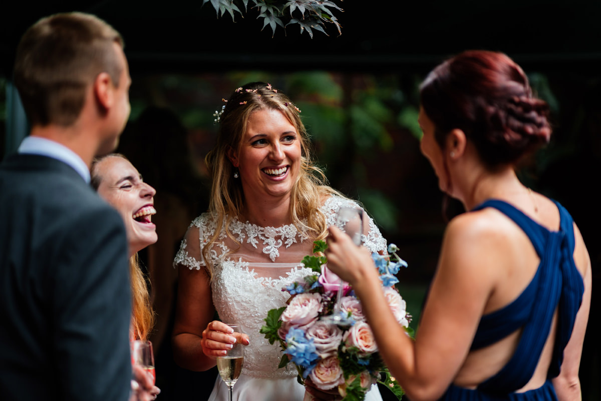 bride enjoying time with friends