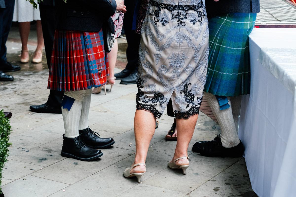 legs and feet at weddings