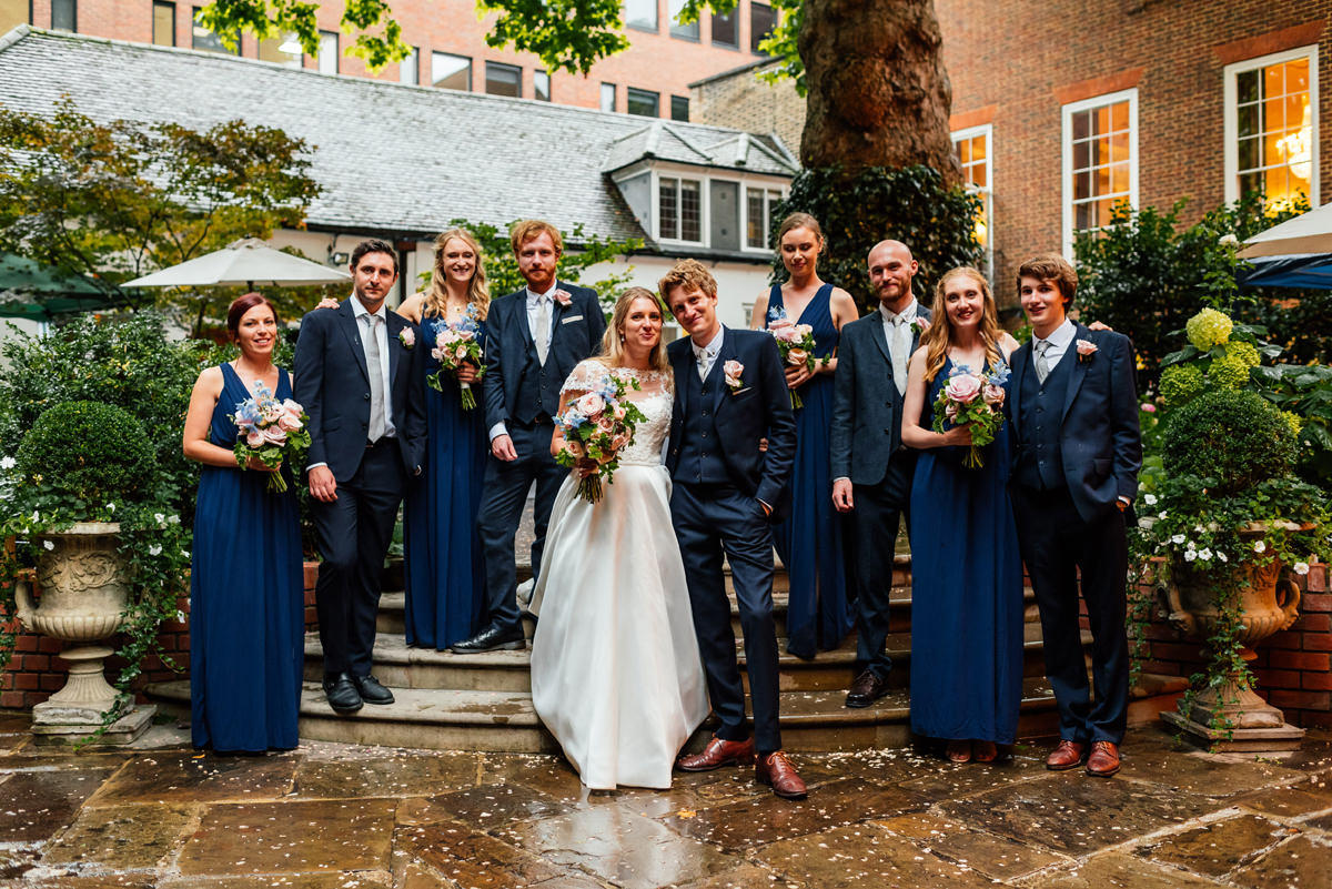 full group photo of bridal party