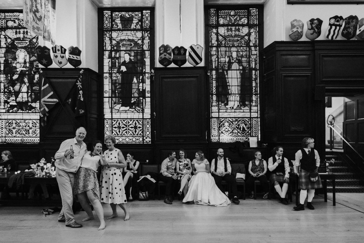 evening photo at stationers hall wedding