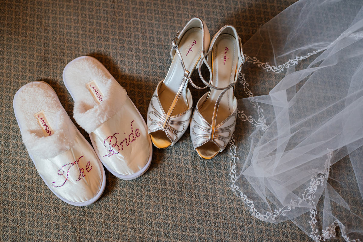 Wedding slippers and wedding shoes