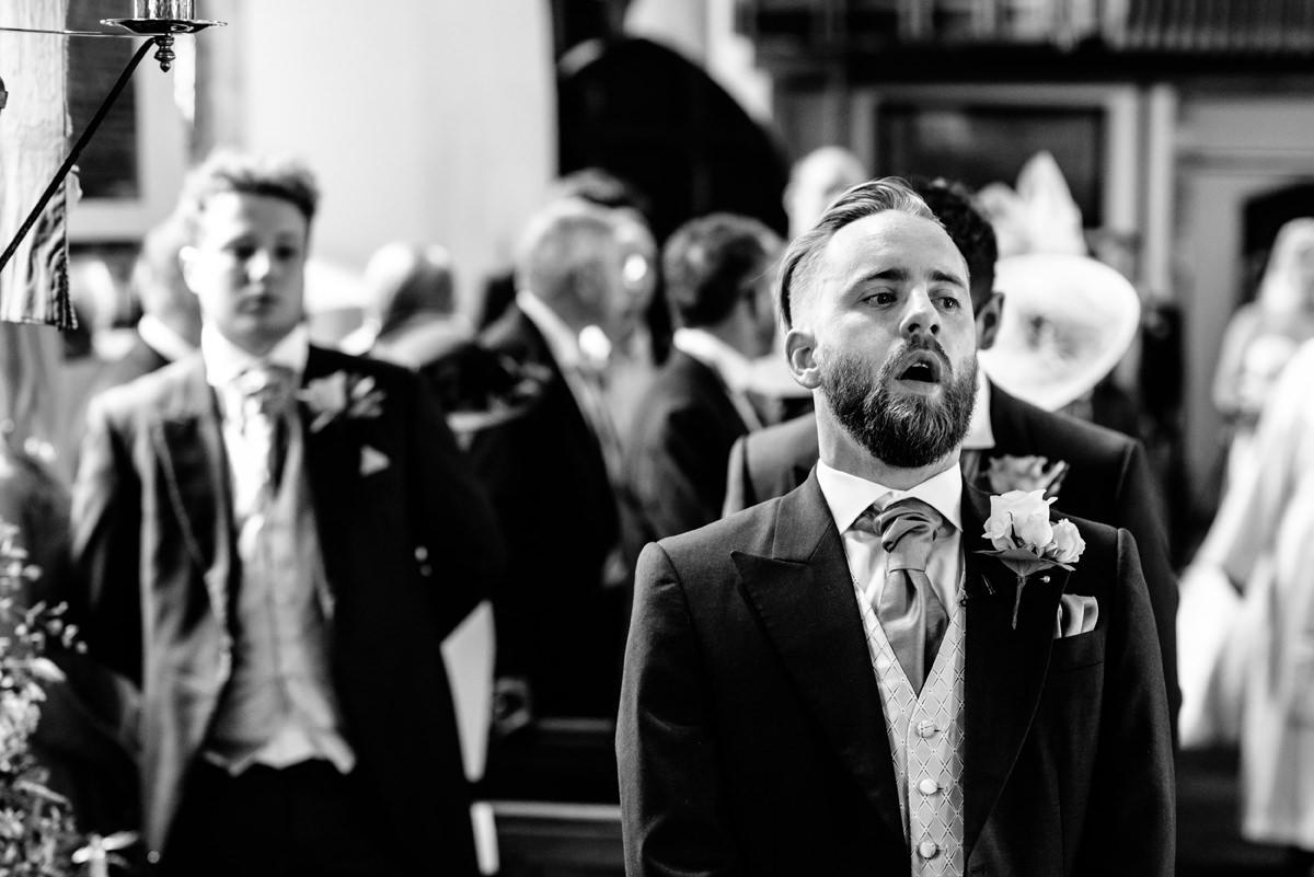 deep breath from the groom
