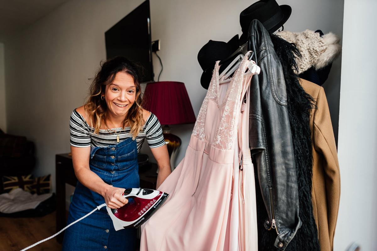 bridesmaid irons dress
