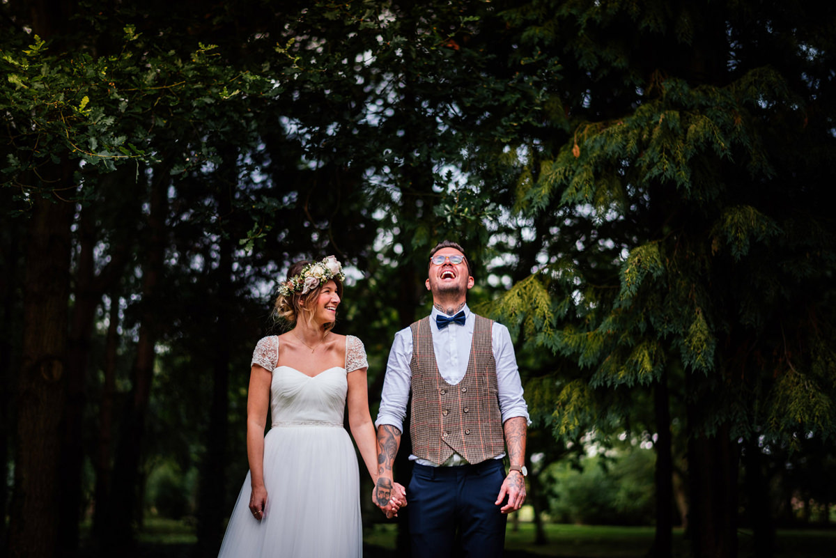 groom laughing in portrait