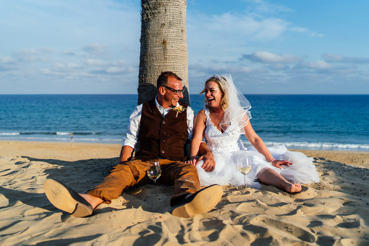 Beach side wedding photographs