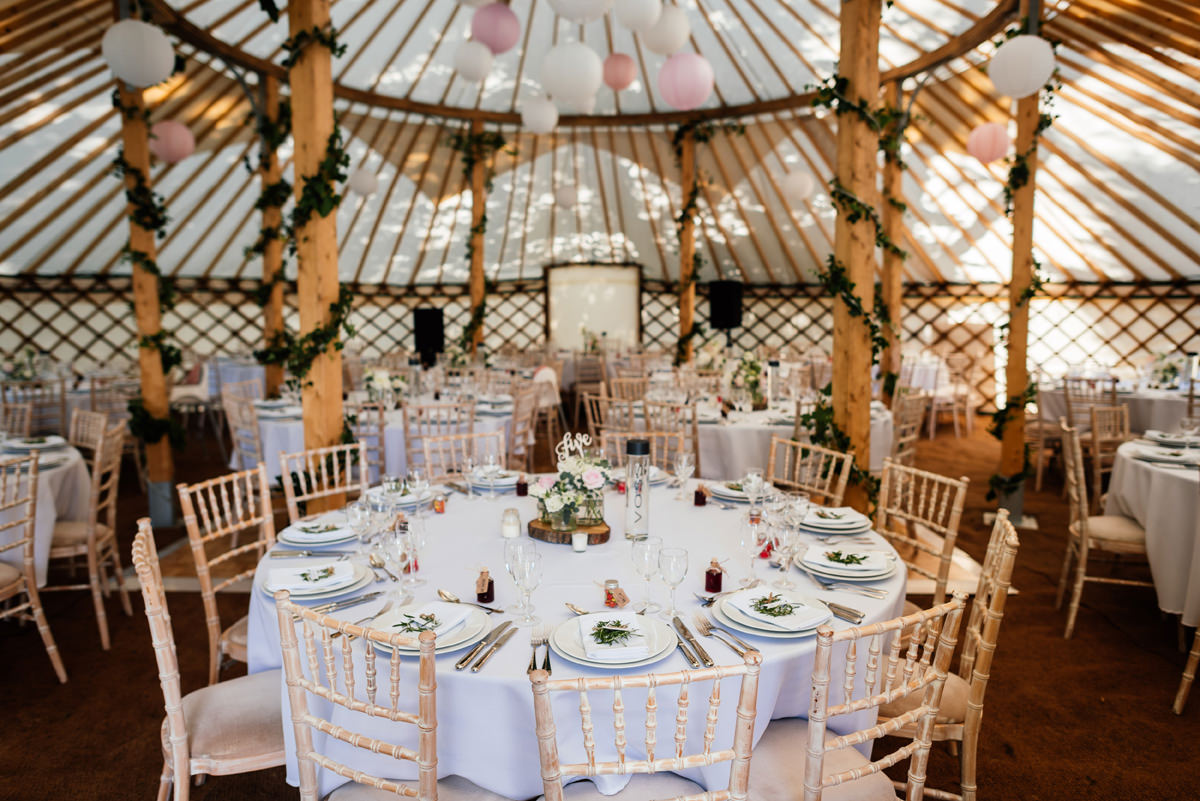 yurt wedding details