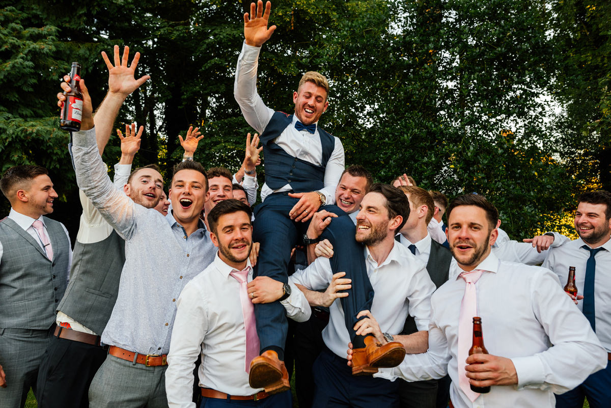 groom and his mates