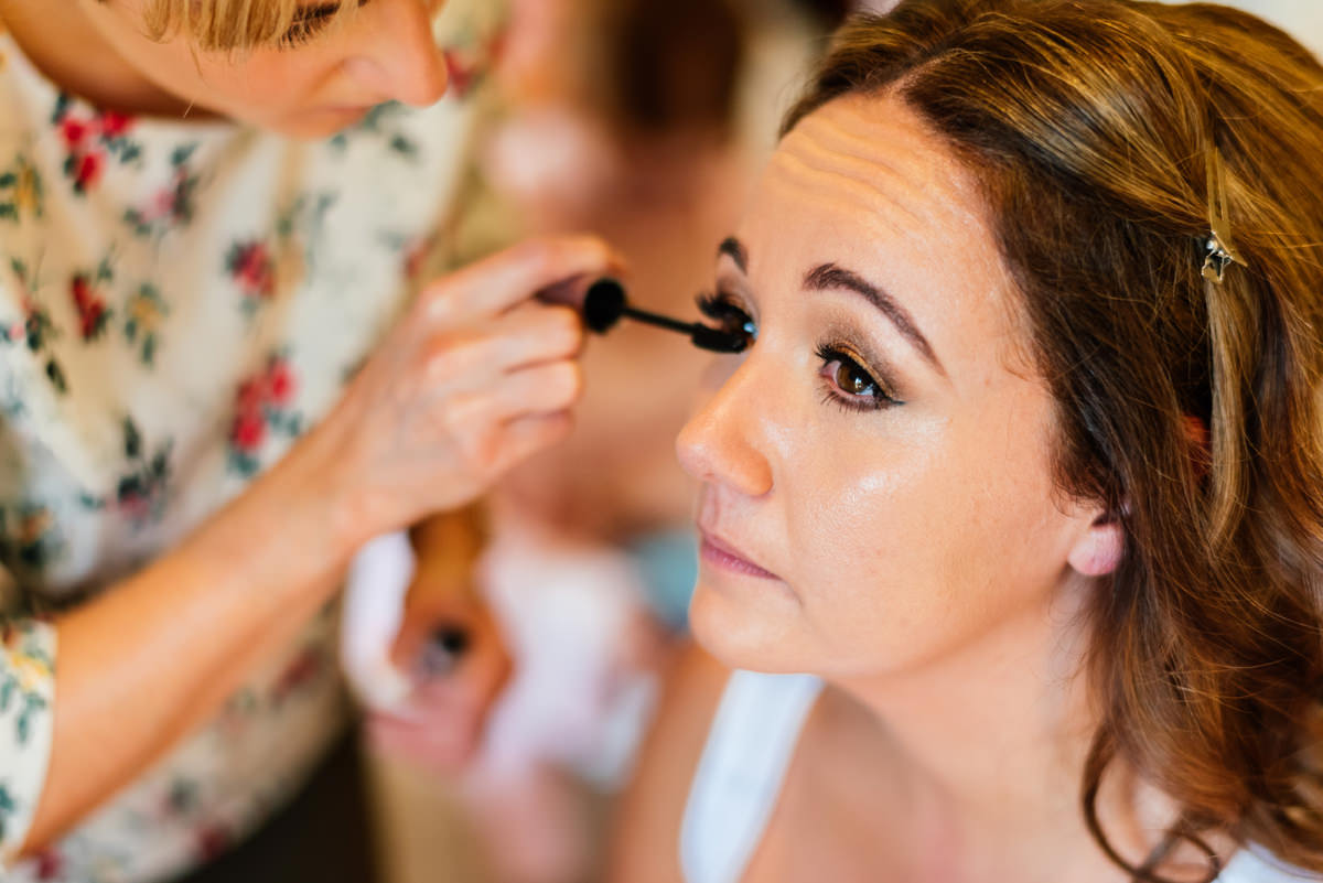 bridal make up morning prep
