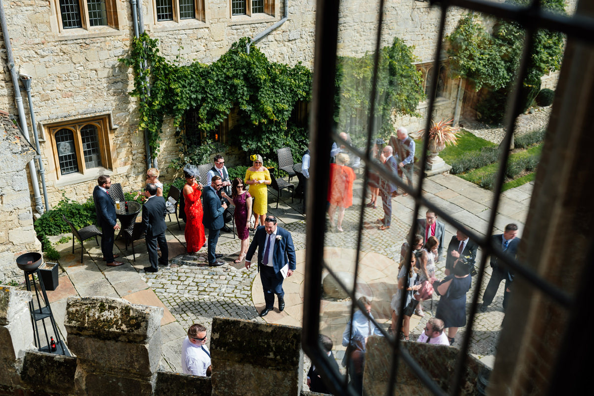 guests arriving at Notley abbey