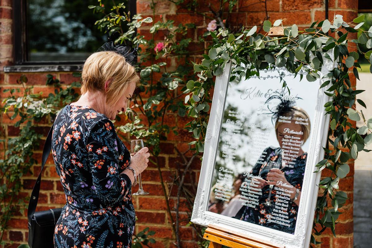 wedding plan mirror