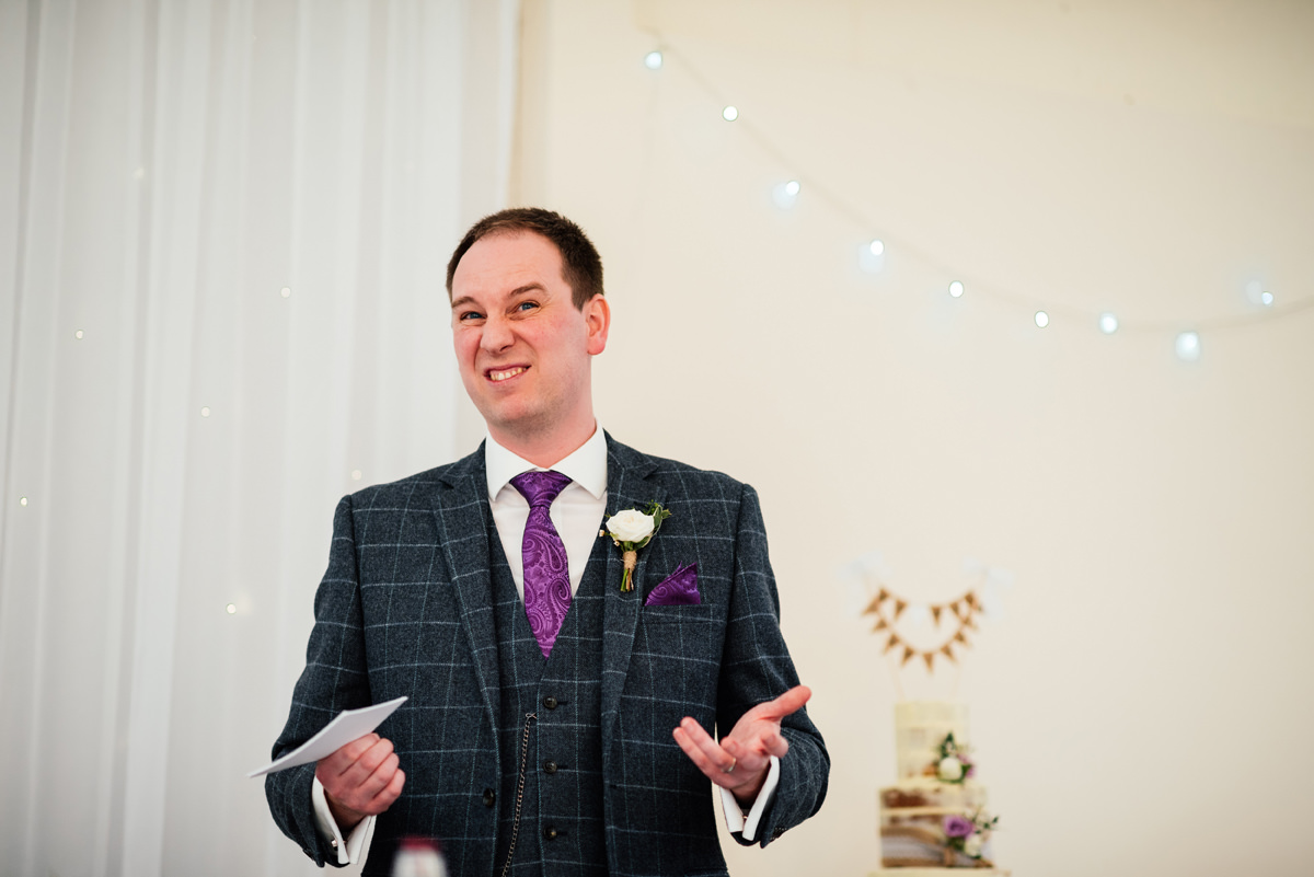 funny look by the best man during his speech