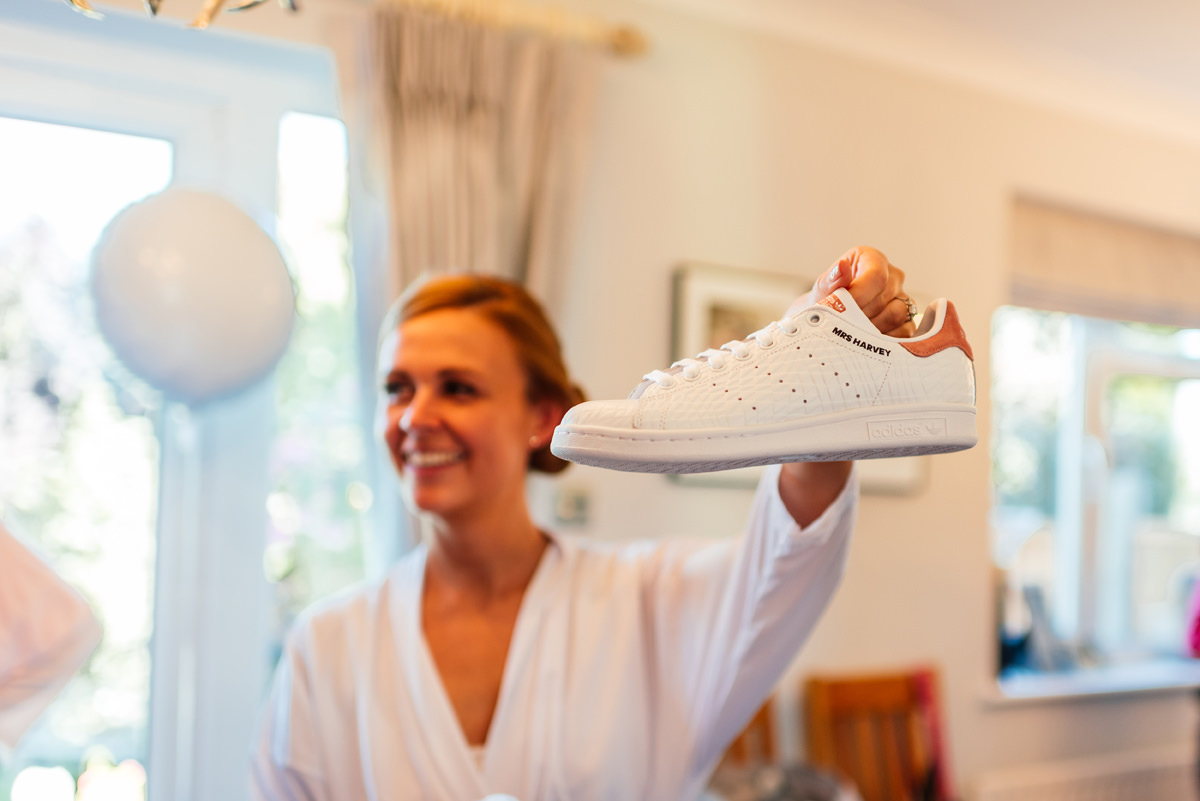 brides wedding trainers
