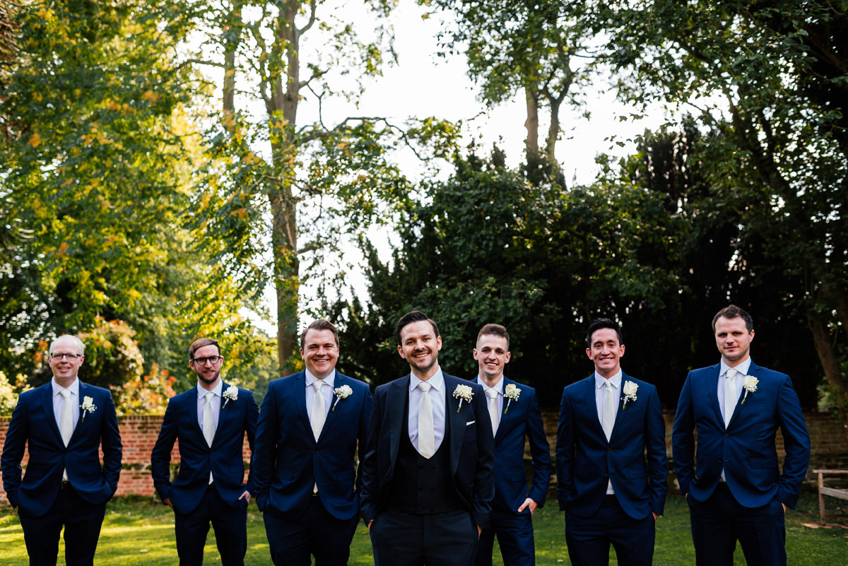formal group photo of the groomsmen