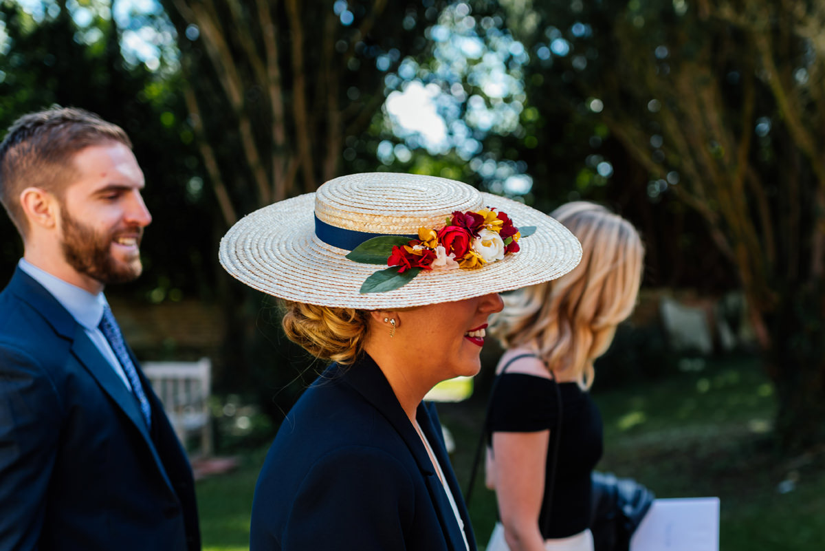 wedding guest hat