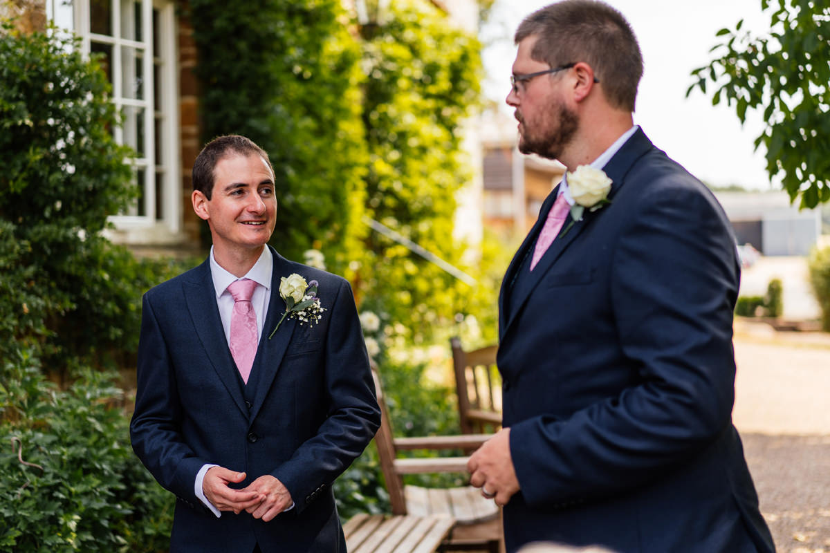 groom with his best man on wedding day
