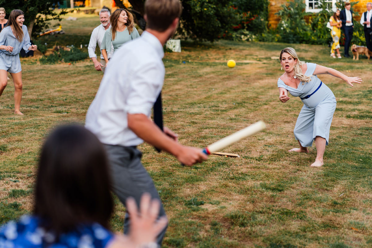 rounders game with wedding guests