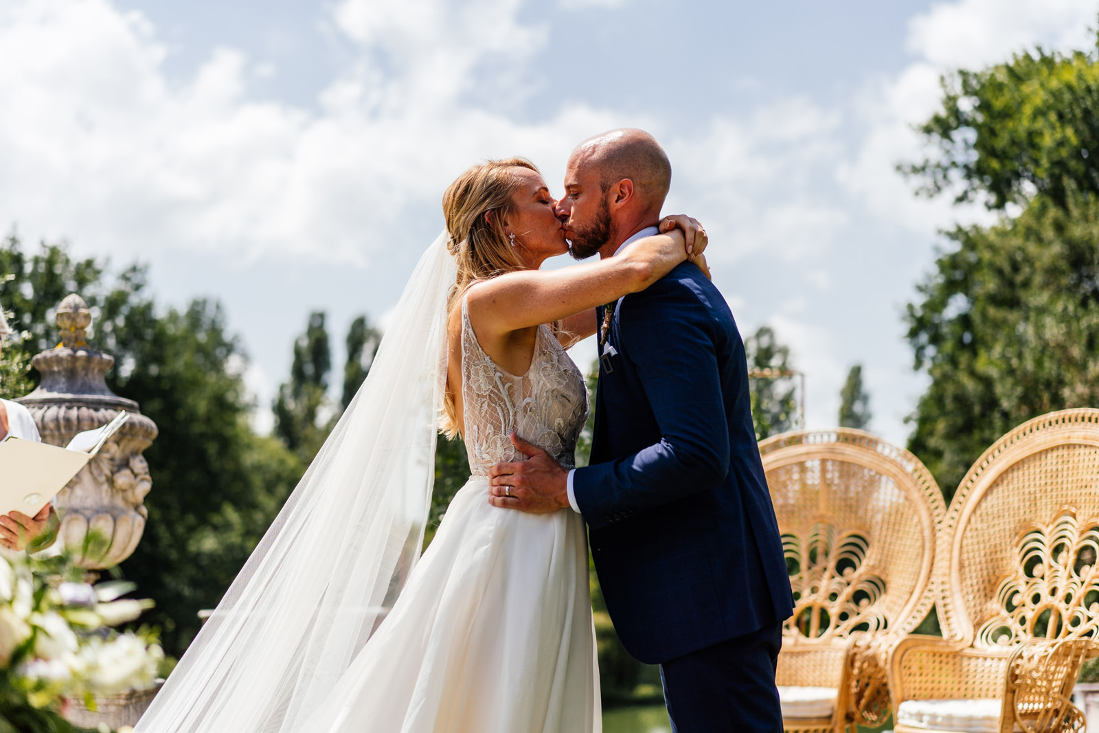 first kiss during the marriage ceremony