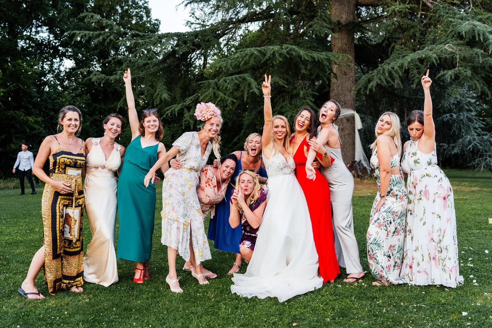 brides friends informal group photo