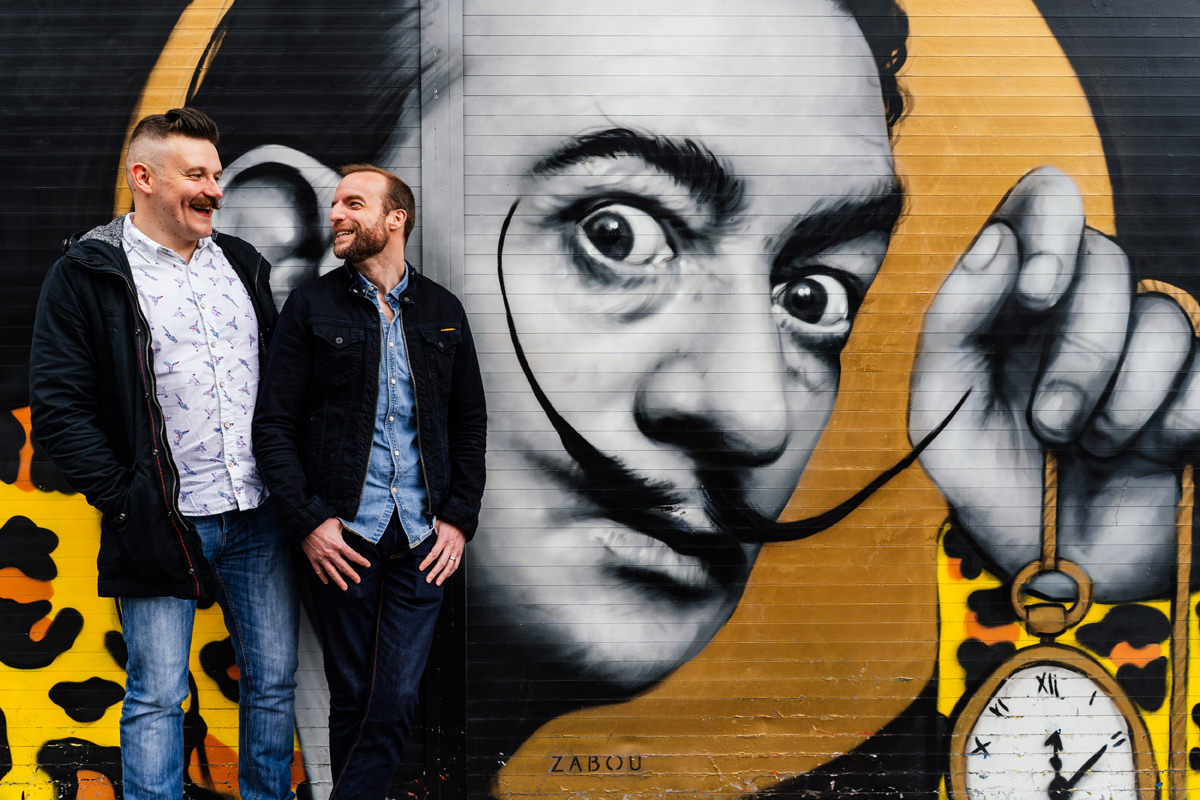 Salvador Dali street art portrait photographer