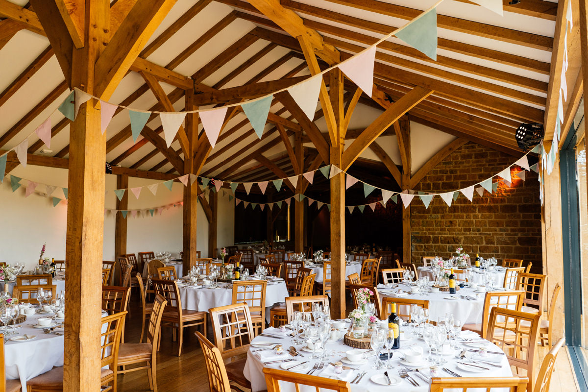 Dodford manor set up for the wedding breakfast
