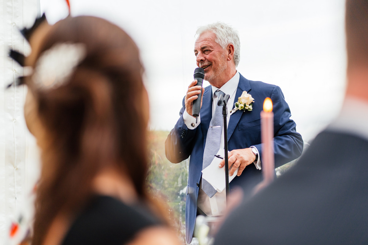 father of the bride give his speech