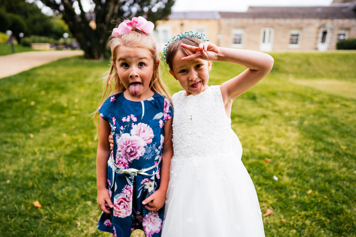 cheeky children at weddings