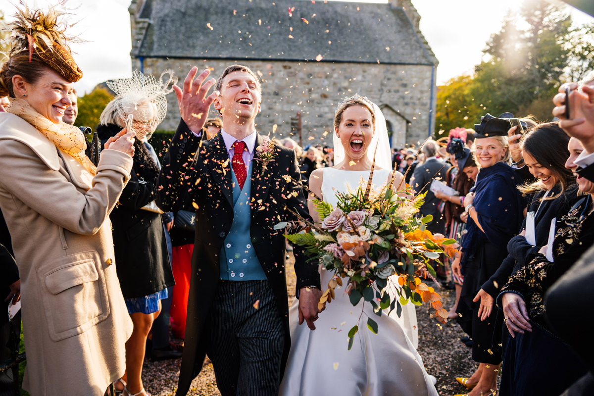 Scottish wedding confetti
