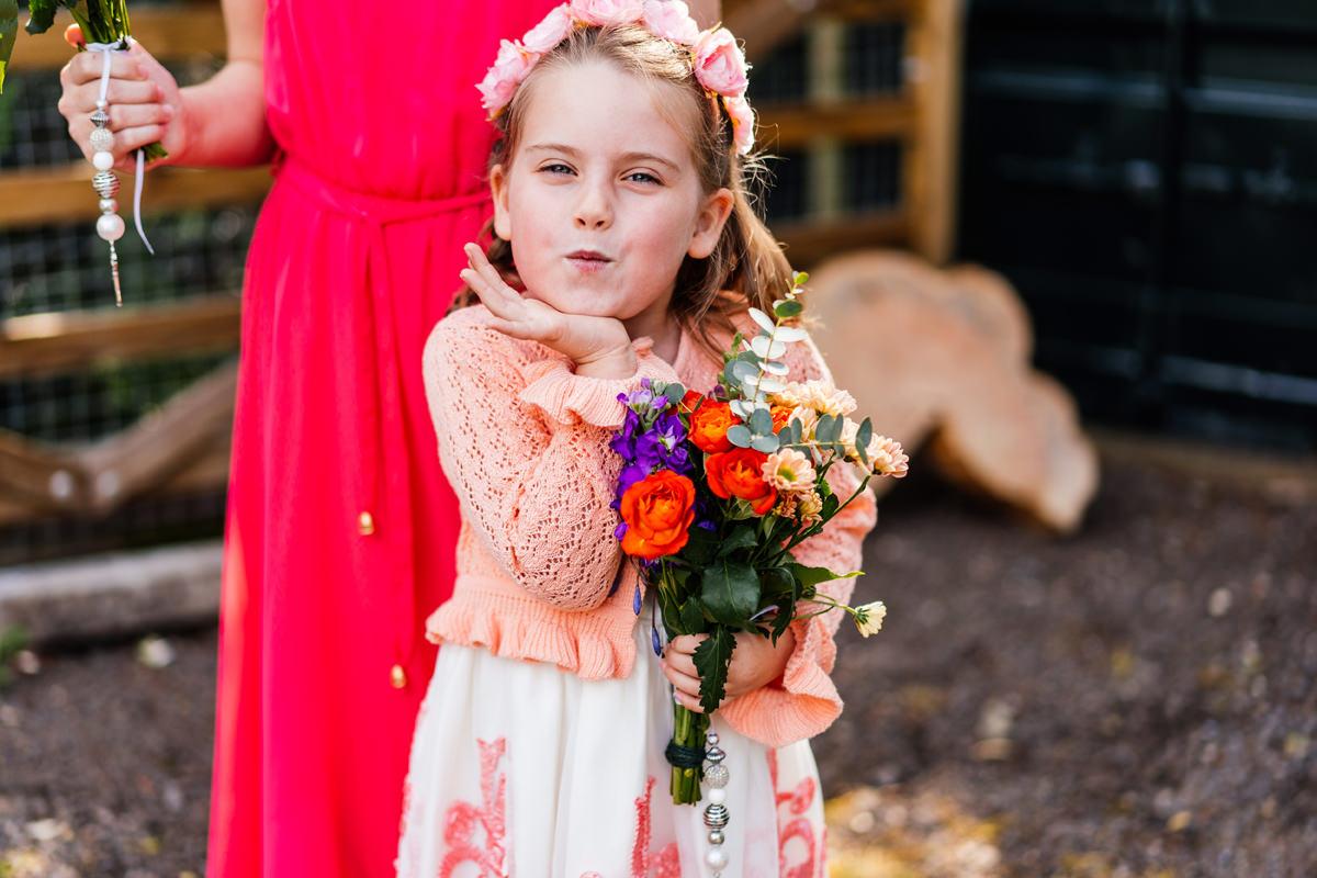 sassy flower girl