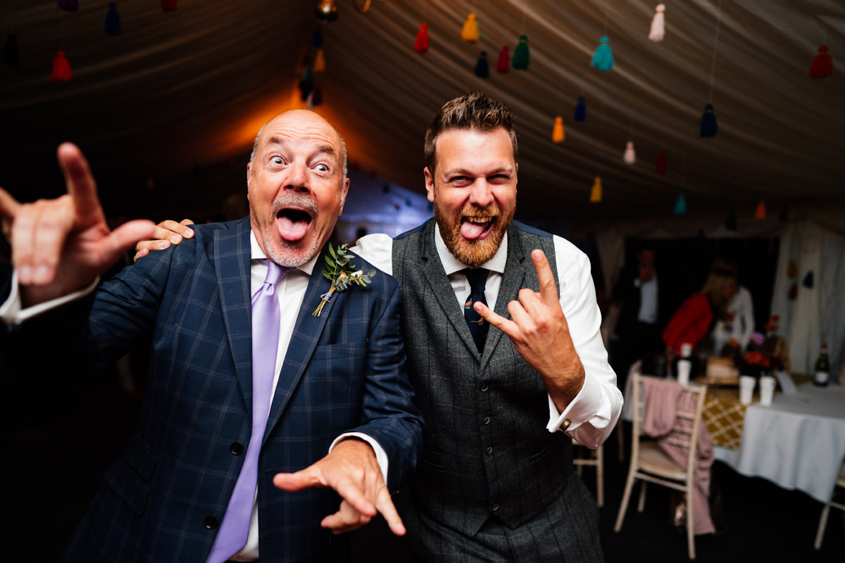 Groom's dad throwing shapes on the dance floor