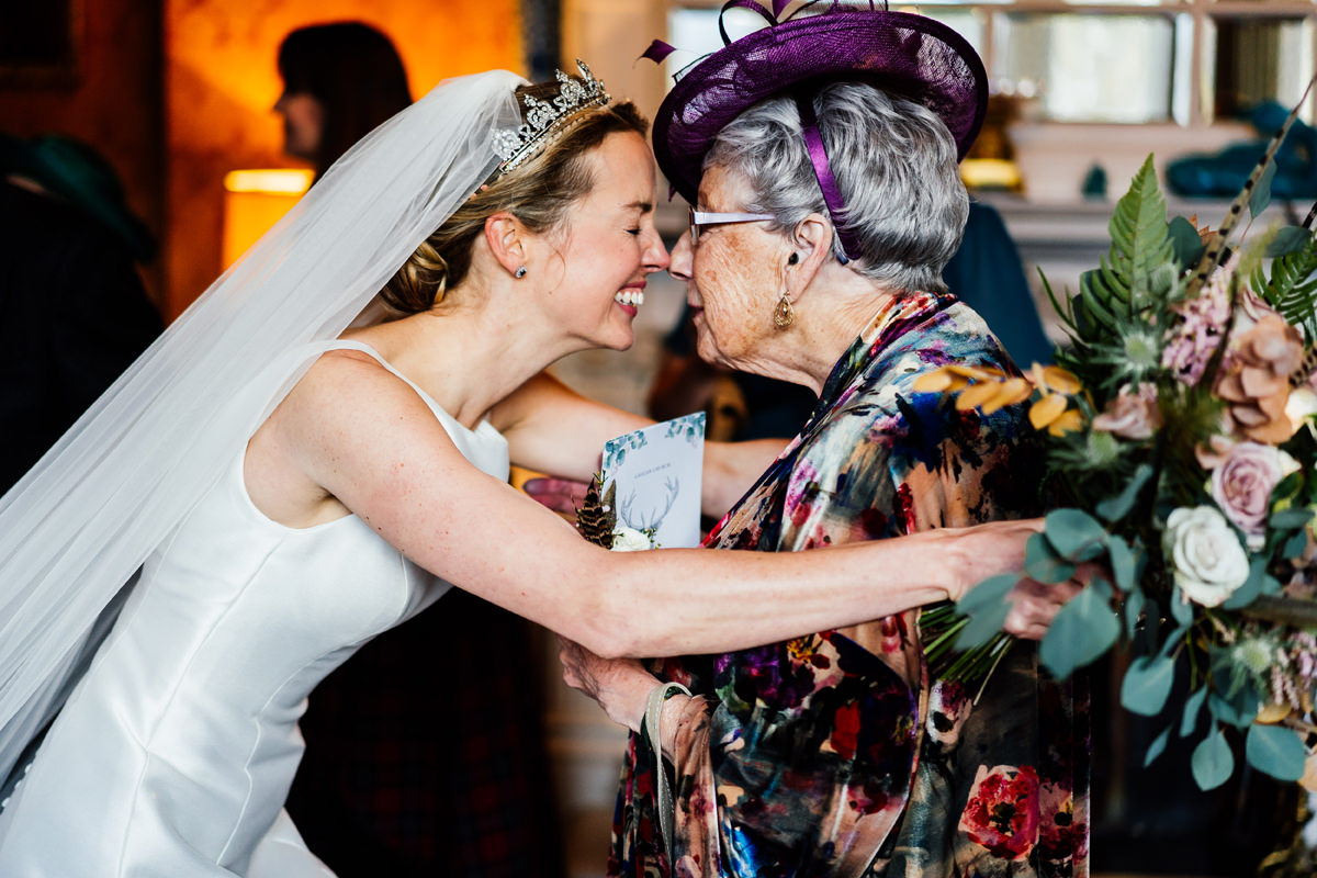 special moment between bride and her auntie