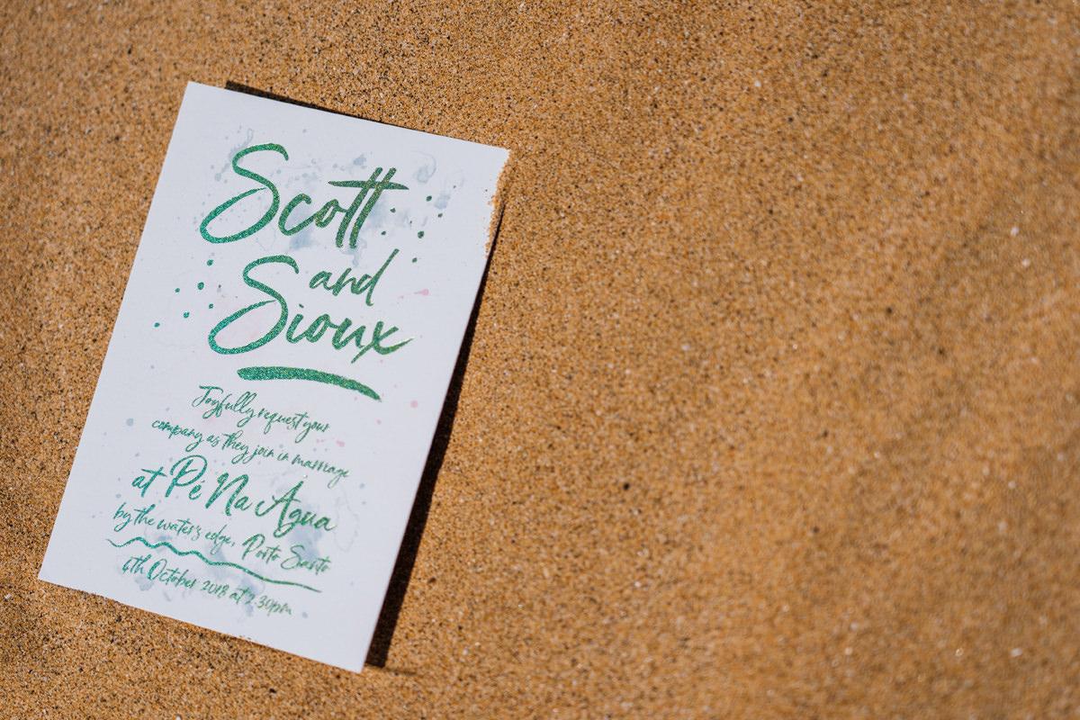 white cottage weddings invitation