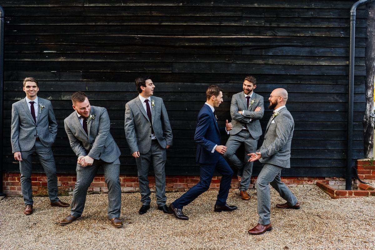 groomsmen fun photo