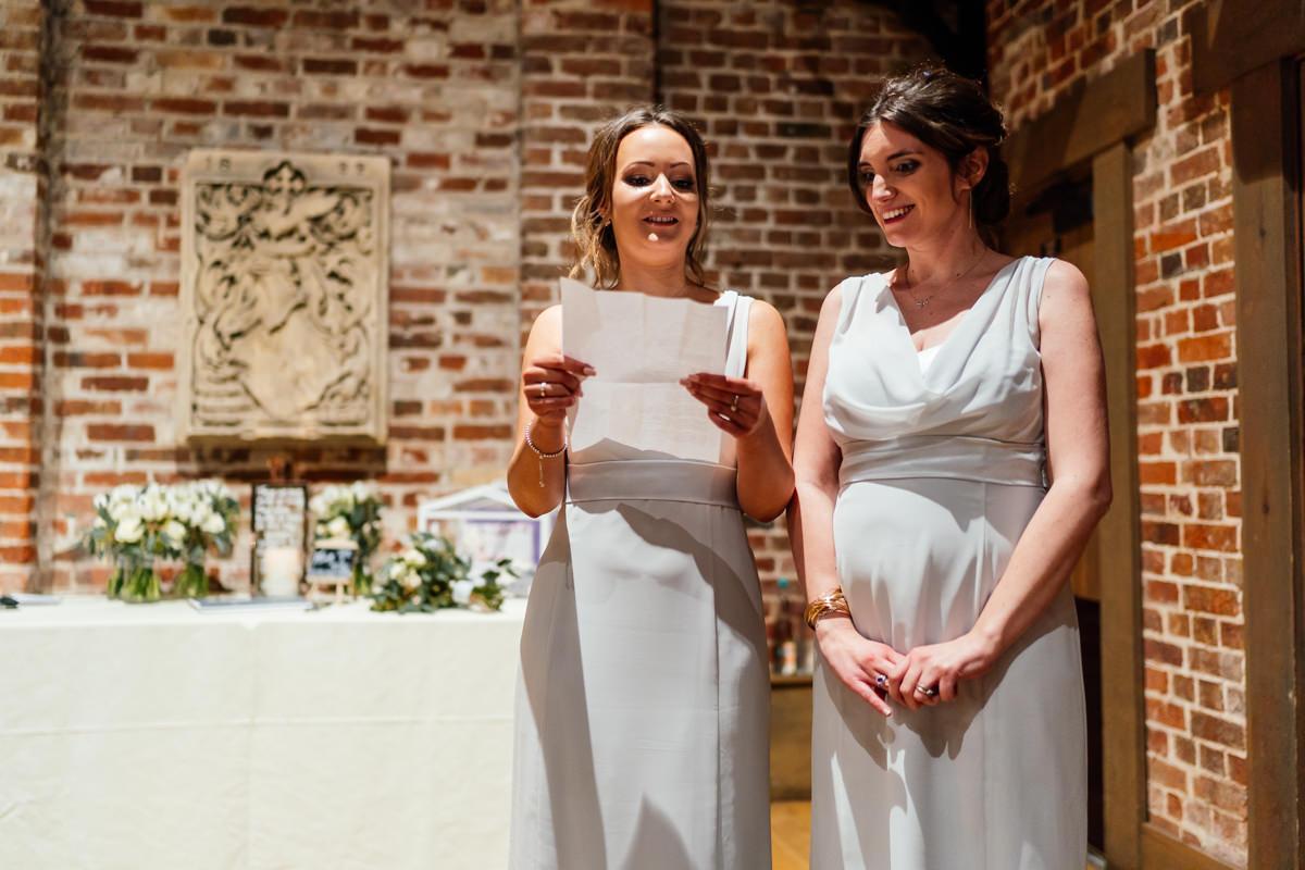 bridesmaids give speech