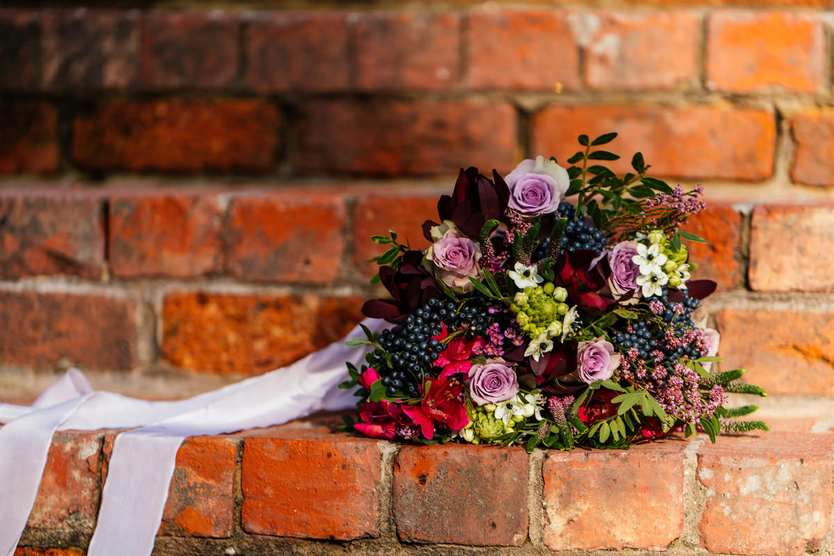 Brides bouquet by Garden Gate Florist