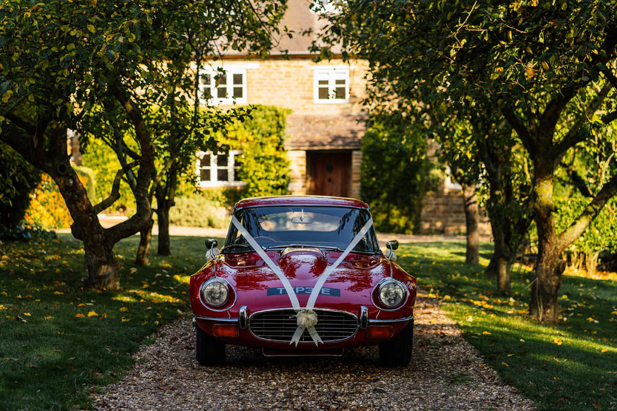 Jaguar E-Type wedding car