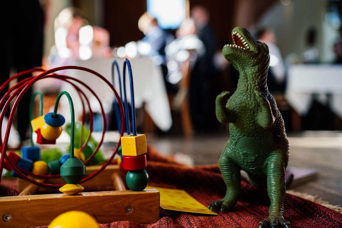 toys for the kids to play with during the wedding breakfast