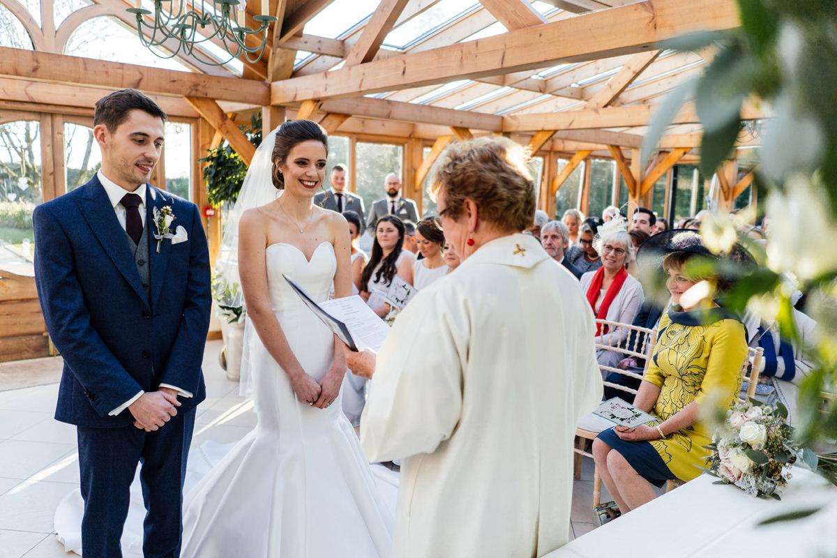 Gaynes Park wedding ceremony