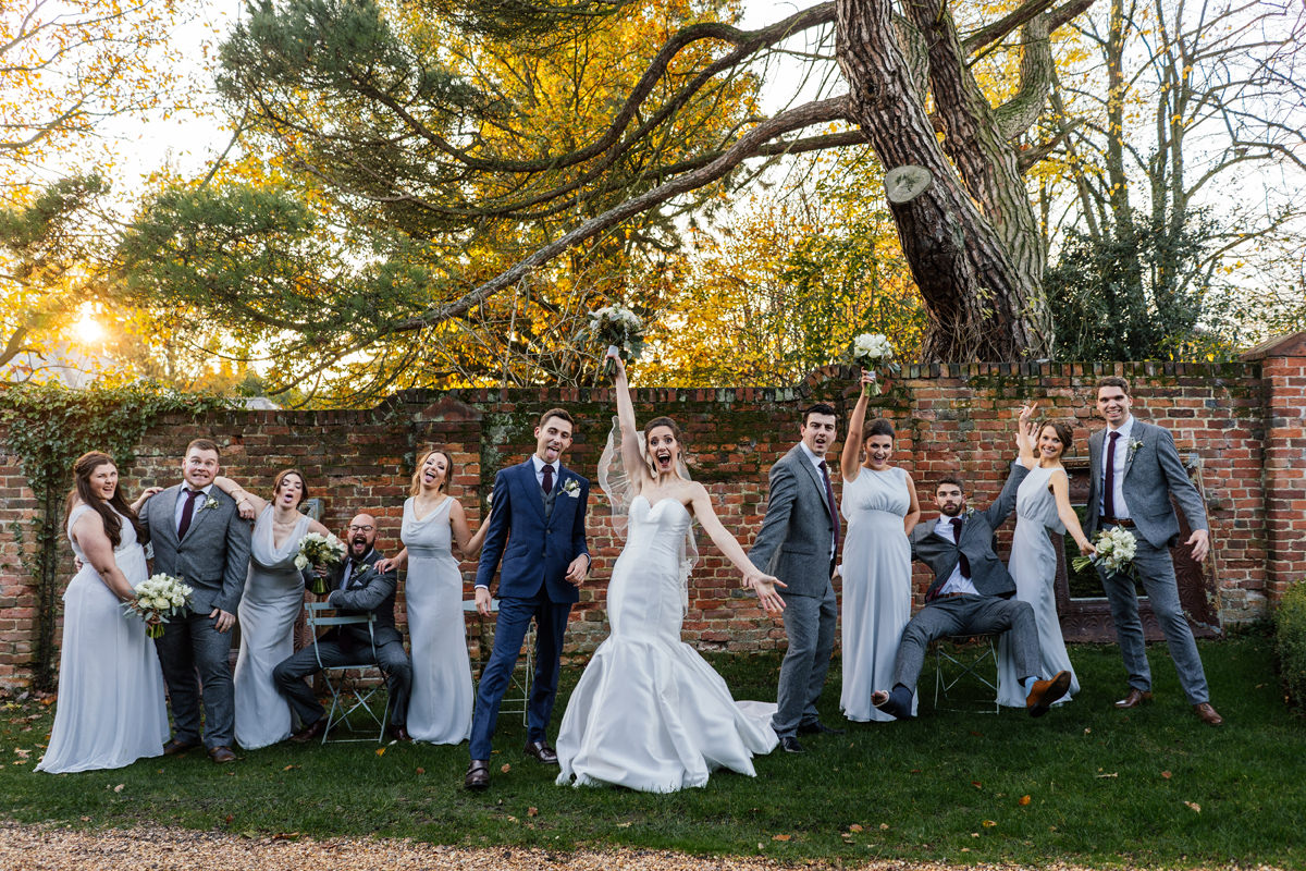 fun group photo of bridal party