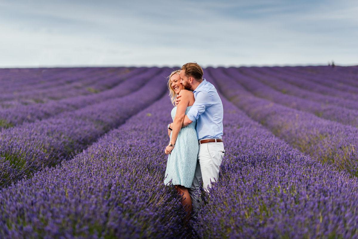Lavender pre-wedding shoot