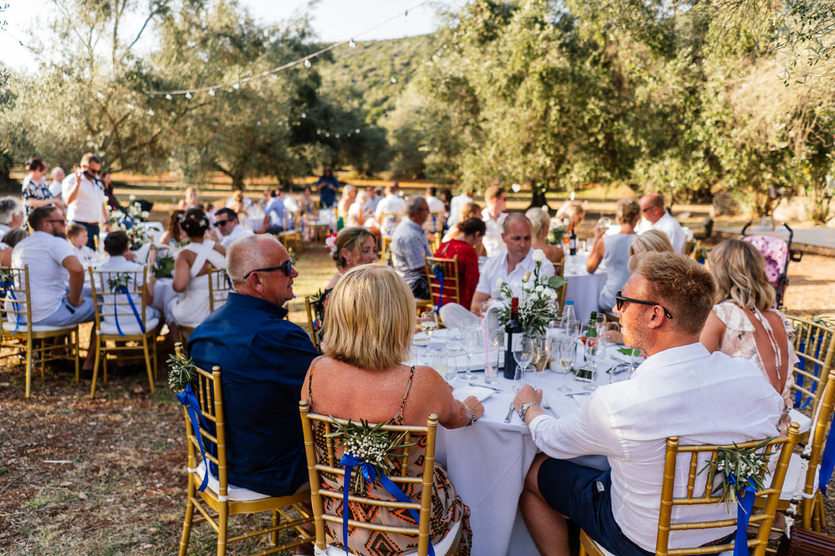 wedding breakfast in the olive grove