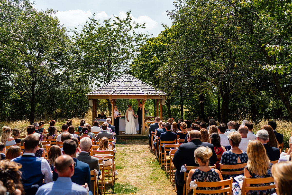 Outdoor wedding ceremony Crockwell Farm